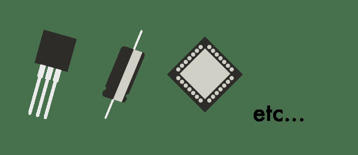 ディスクリート半導体の部品例